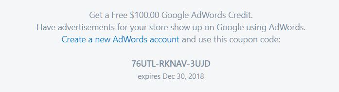 How To Claim $100 Free Adwords Credit From Your New Shopify