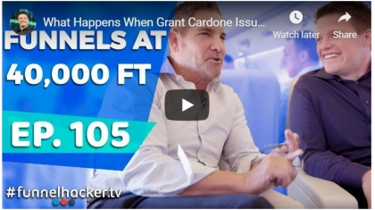 grant cardone builds funnel with russell brunson